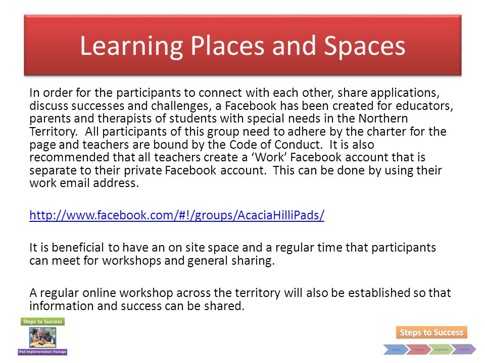 Learning Places and Spaces
