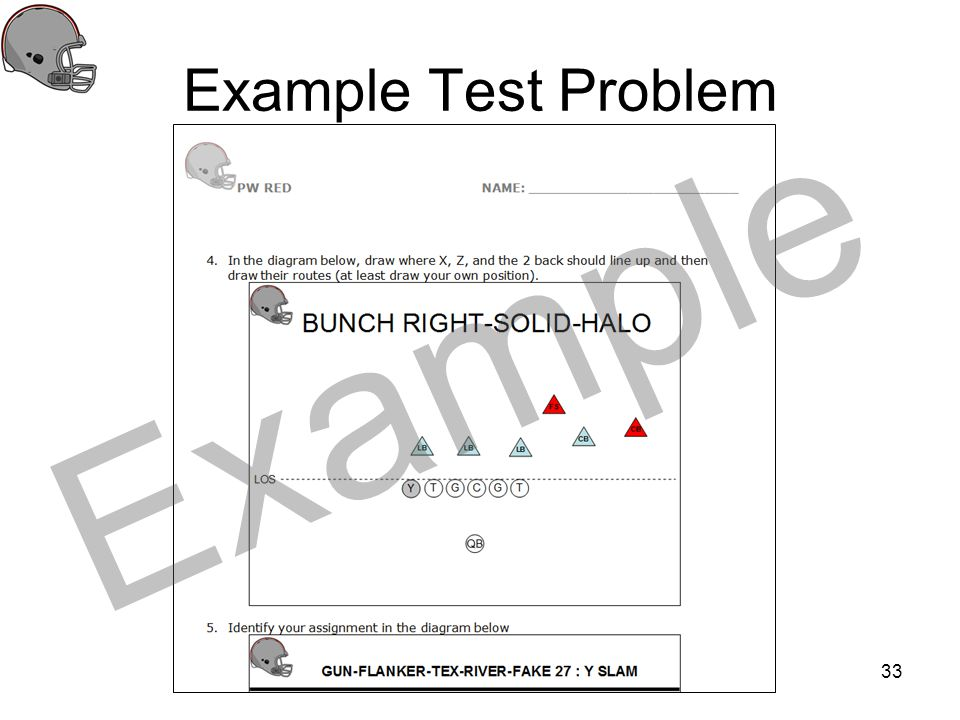 Example Test Problem Example