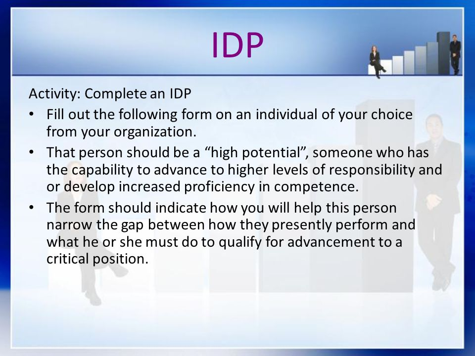 IDP Activity: Complete an IDP
