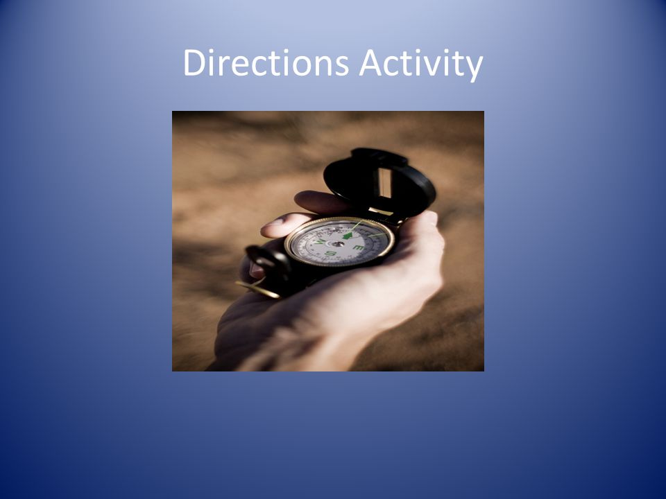 Directions Activity