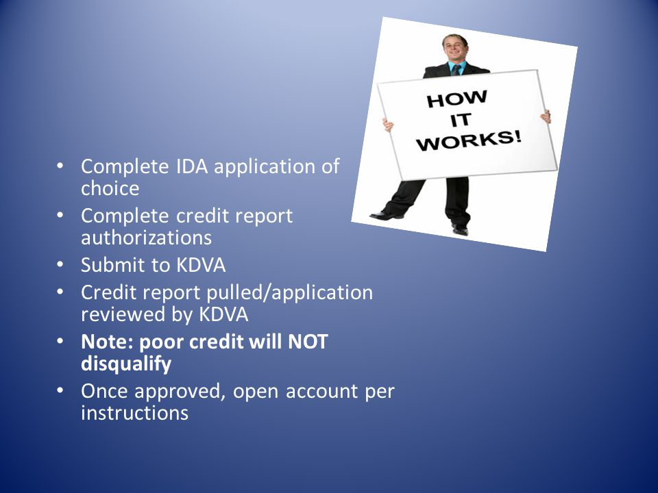 Complete IDA application of choice
