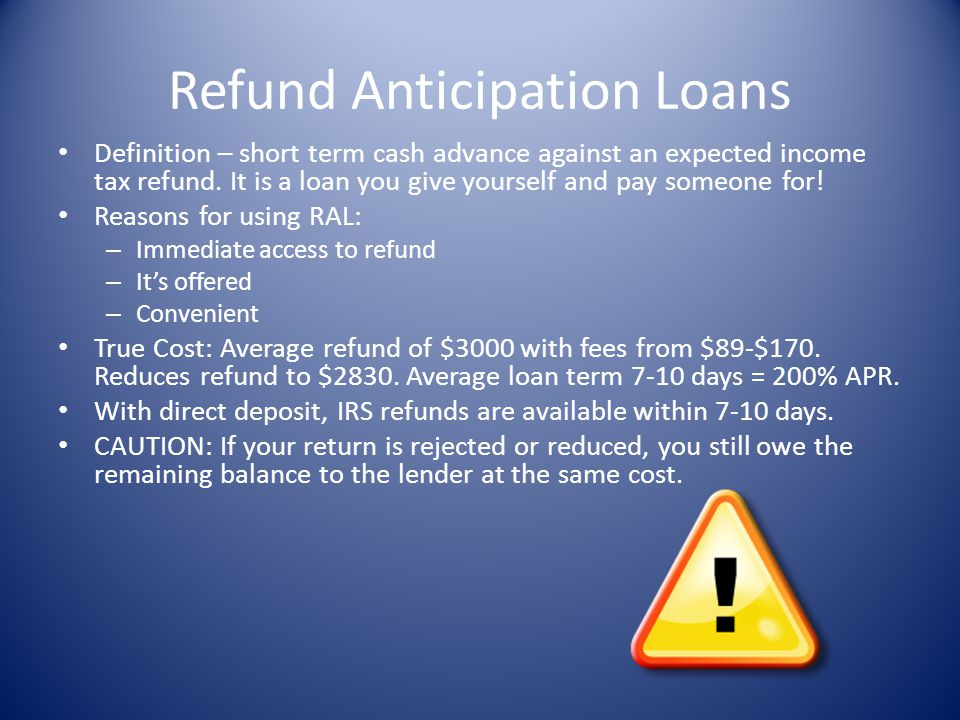 Refund Anticipation Loans