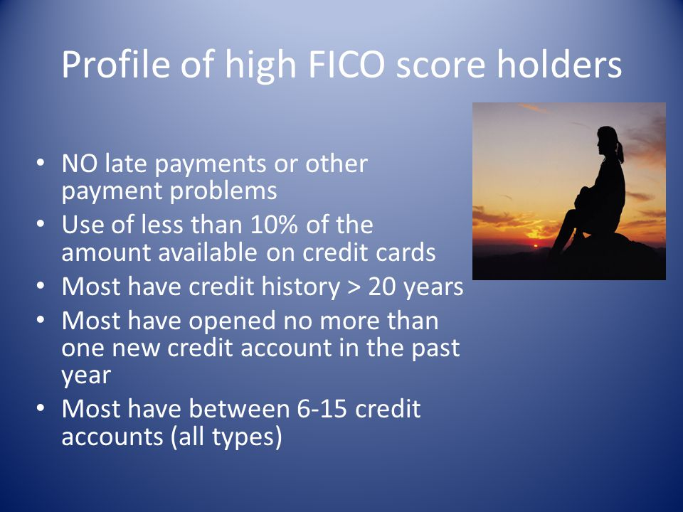 Profile of high FICO score holders