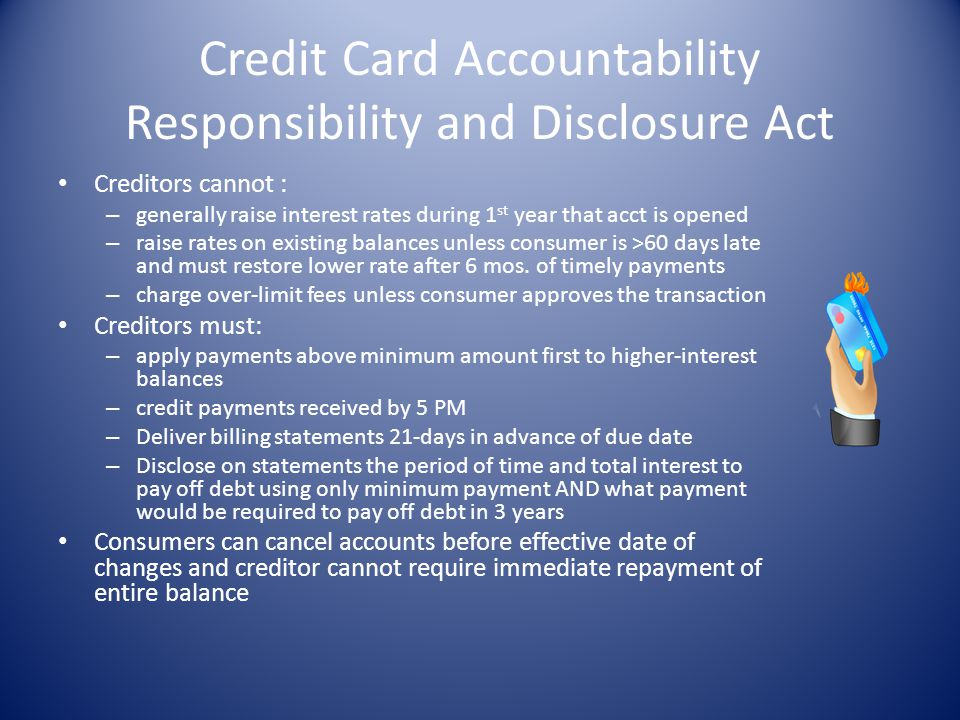 Credit Card Accountability Responsibility and Disclosure Act