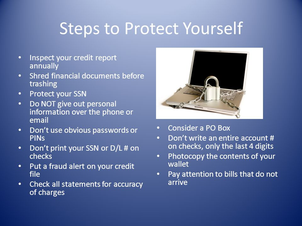 Steps to Protect Yourself