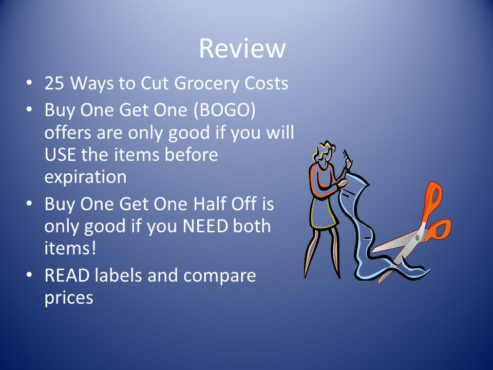 Review 25 Ways to Cut Grocery Costs