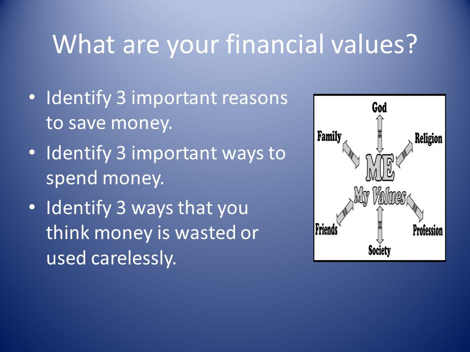 What are your financial values
