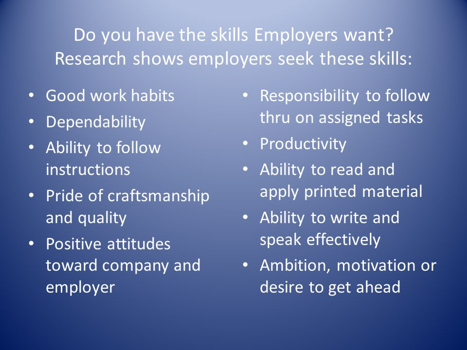 Do you have the skills Employers want