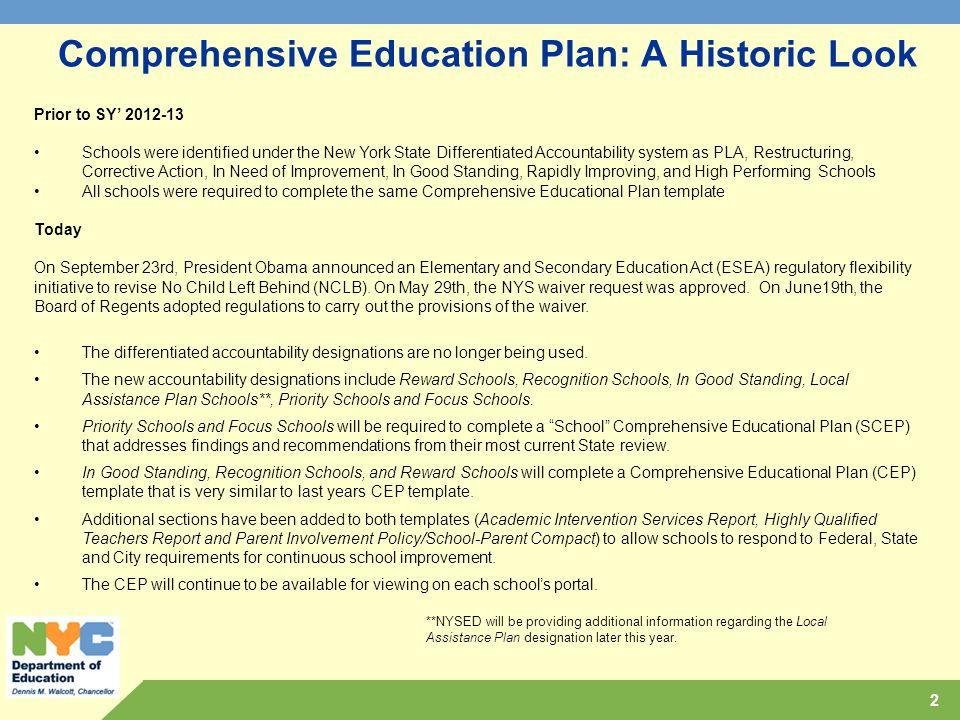 Comprehensive educational plan ppt download comprehensive education plan a historic look fandeluxe Images