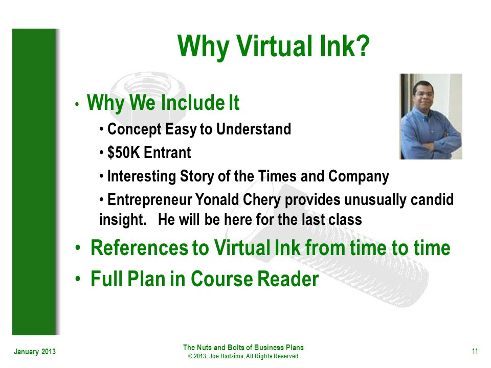 Why Virtual Ink References to Virtual Ink from time to time
