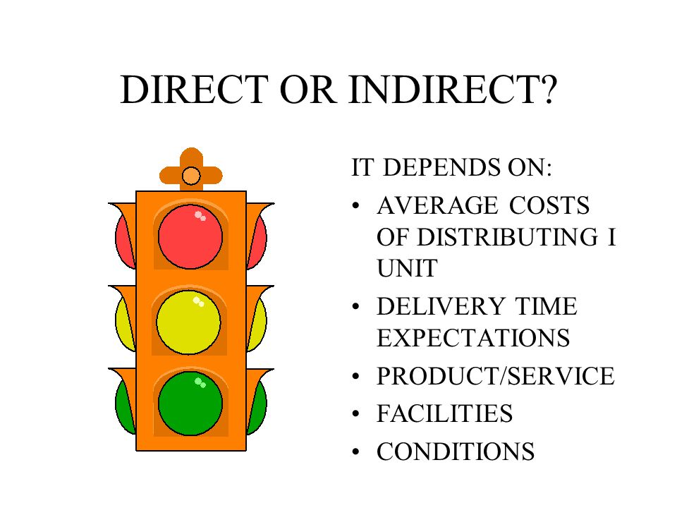 DIRECT OR INDIRECT IT DEPENDS ON: