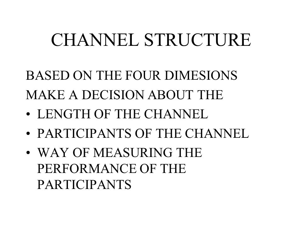 CHANNEL STRUCTURE BASED ON THE FOUR DIMESIONS