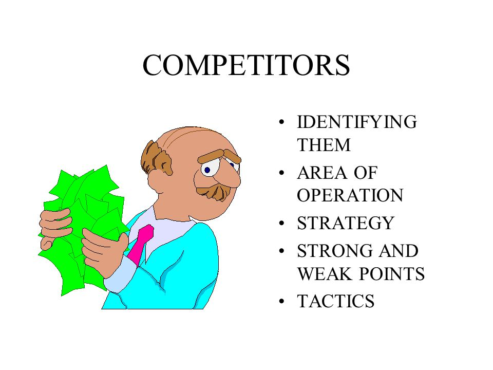 COMPETITORS IDENTIFYING THEM AREA OF OPERATION STRATEGY