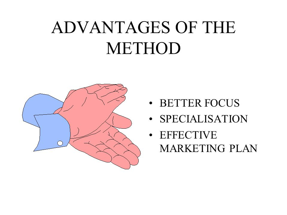 ADVANTAGES OF THE METHOD