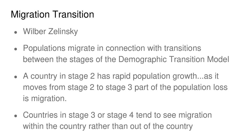 Theories Of Migration Push And Pull Factors Ppt Download