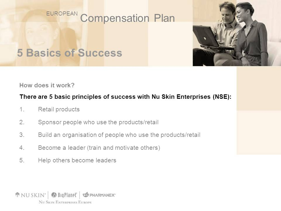 Compensation Plan 5 Basics of Success How does it work