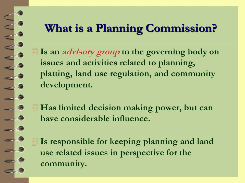 What is a Planning Commission