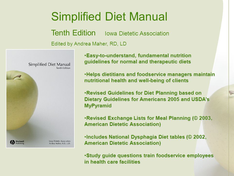 Simplified Diet Manual