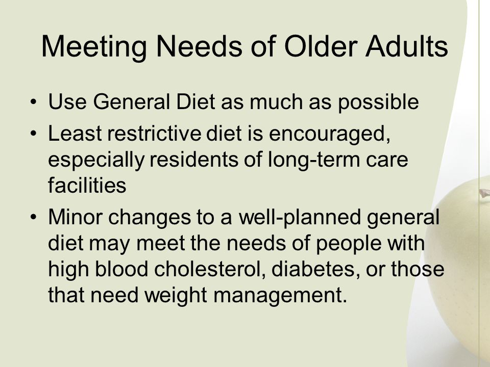Meeting Needs of Older Adults