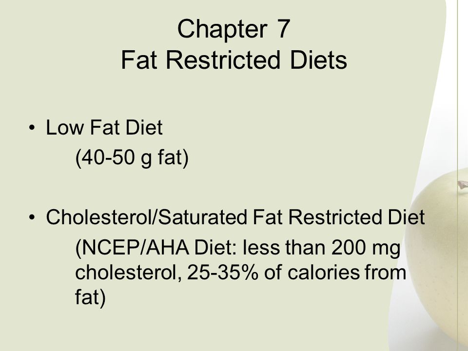 Chapter 7 Fat Restricted Diets