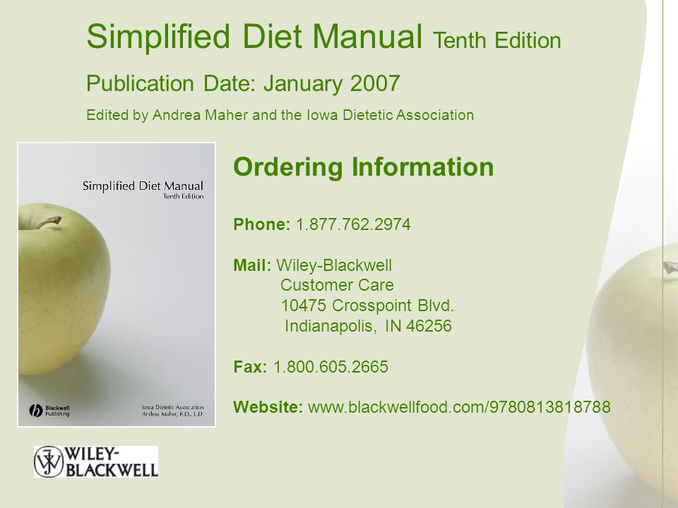 Simplified Diet Manual Tenth Edition