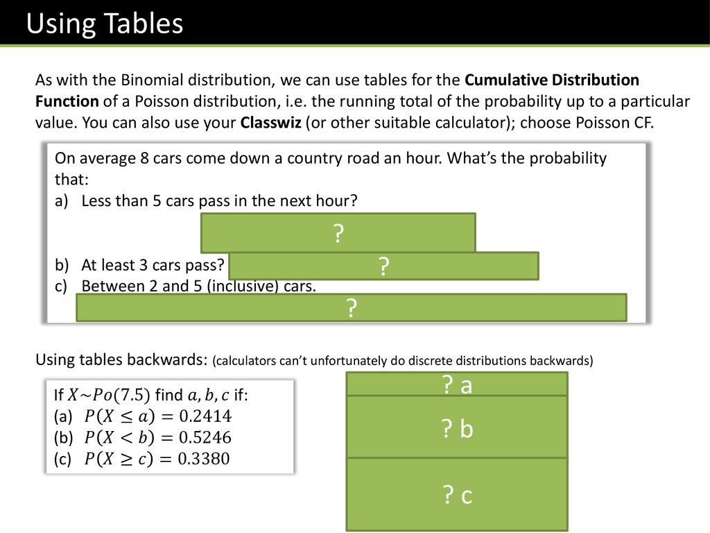 Further Stats 1 Chapter 2 :: Poisson Distribution - ppt download