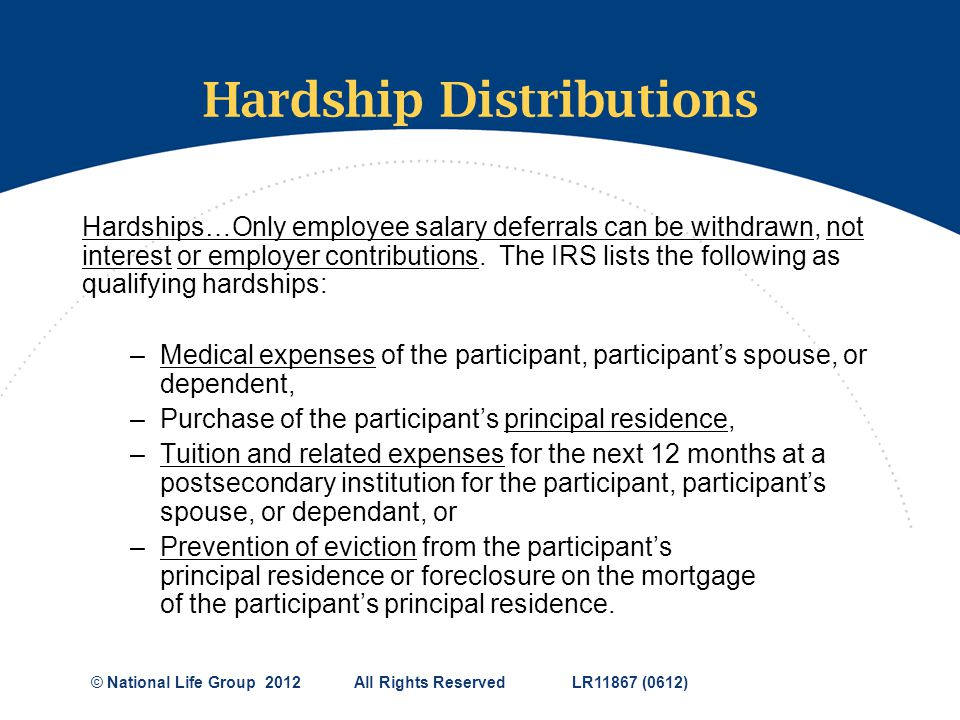 Hardship Distributions