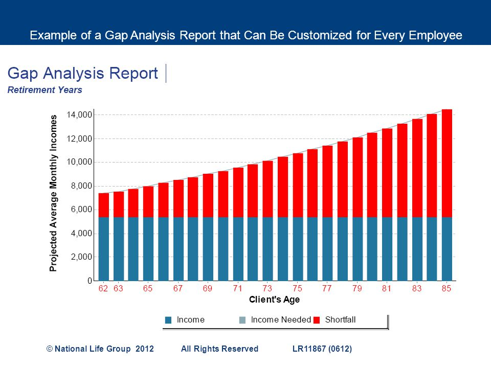Example of a Gap Analysis Report that Can Be Customized for Every Employee