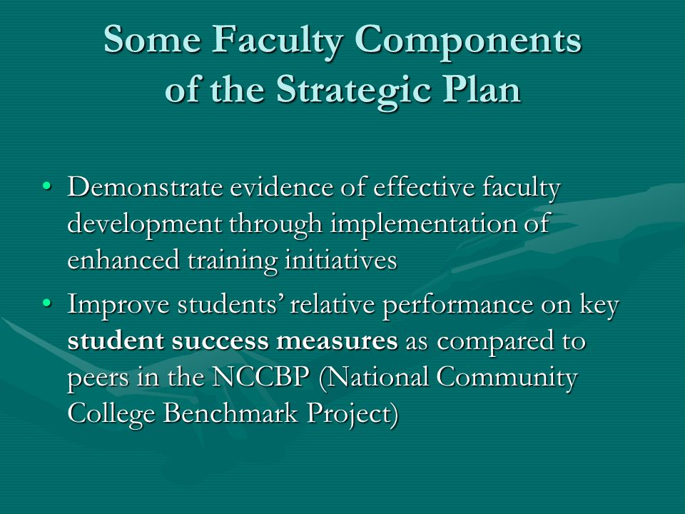 Some Faculty Components of the Strategic Plan