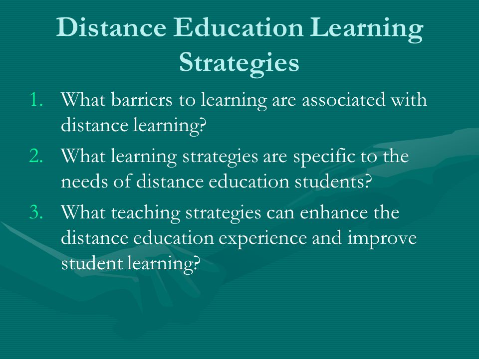 Distance Education Learning Strategies