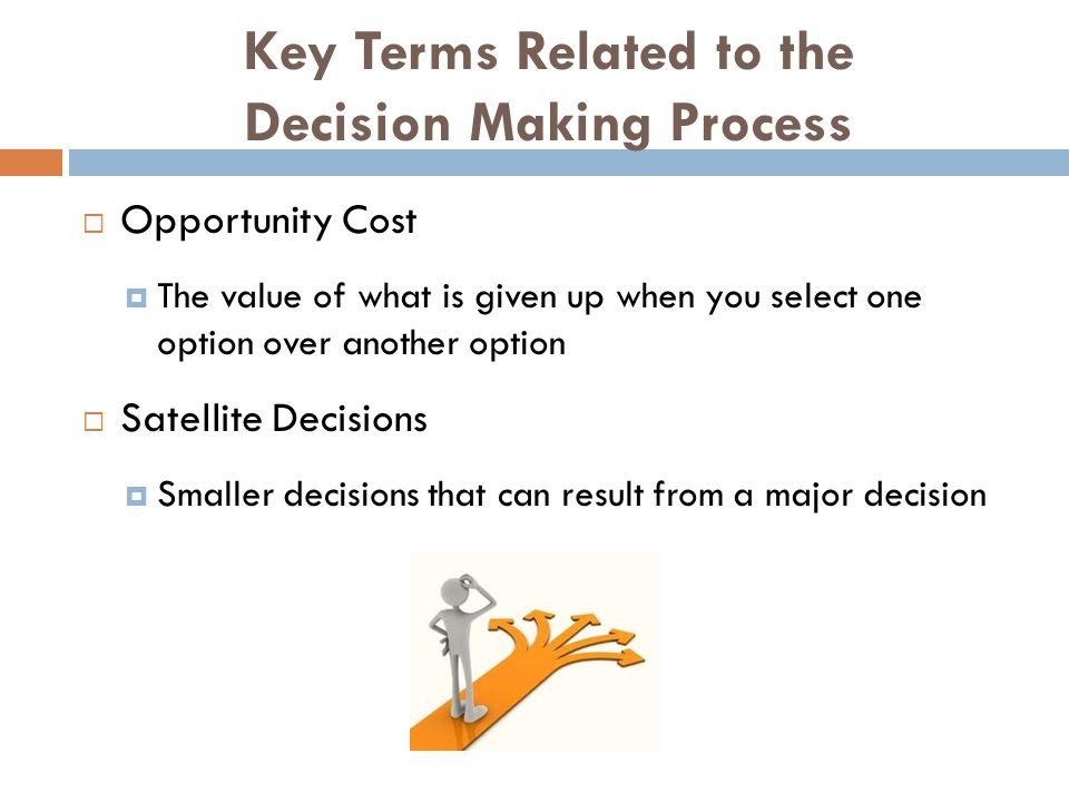 Key Terms Related to the Decision Making Process