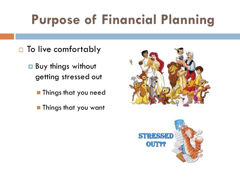 Purpose of Financial Planning