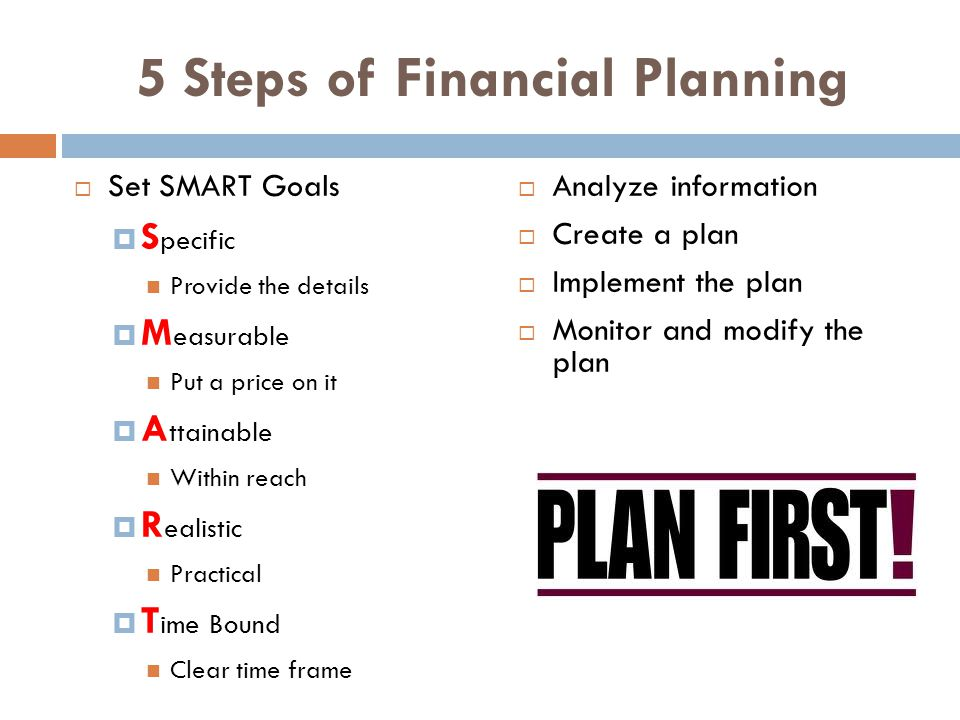 5 Steps of Financial Planning