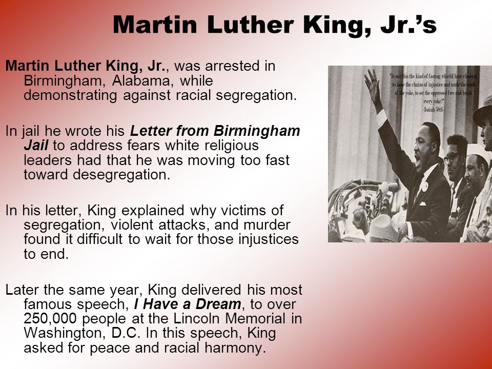 Martin Luther King, Jr.'s