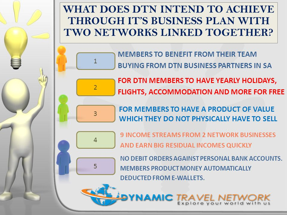 WHAT DOES DTN INTEND TO ACHIEVE THROUGH IT'S BUSINESS PLAN WITH TWO NETWORKS LINKED TOGETHER