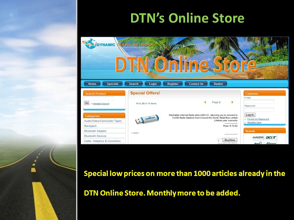 DTN's Online Store Special low prices on more than 1000 articles already in the.