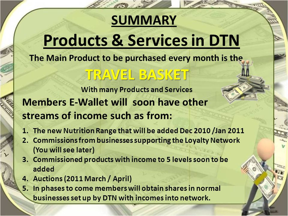Products & Services in DTN With many Products and Services