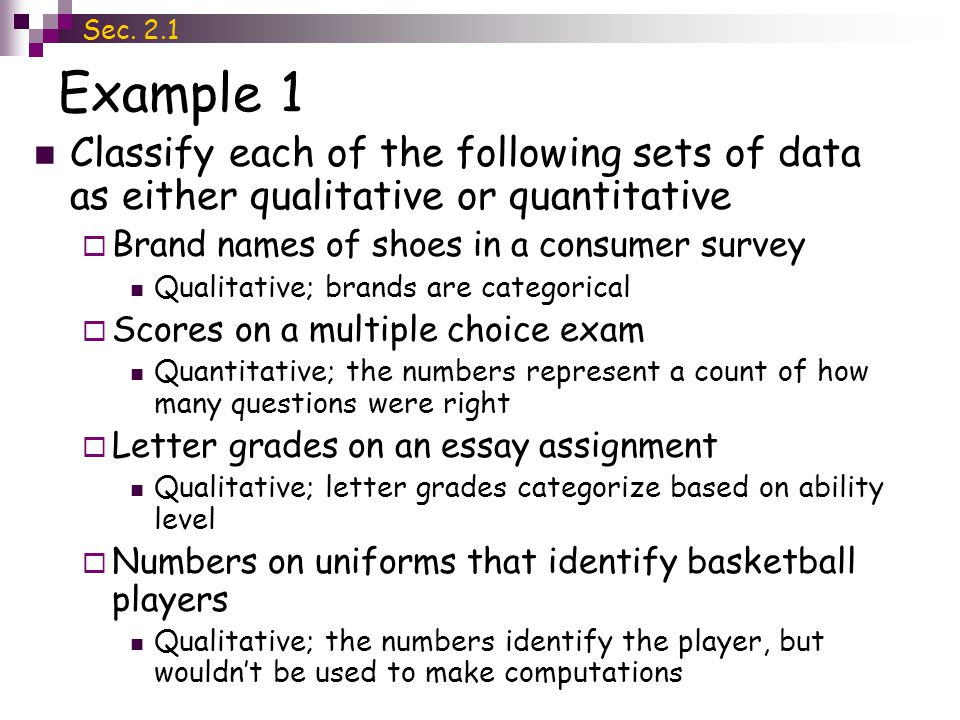 are surveys qualitative or quantitative section 2 1 data types and levels of measurement ppt 1612
