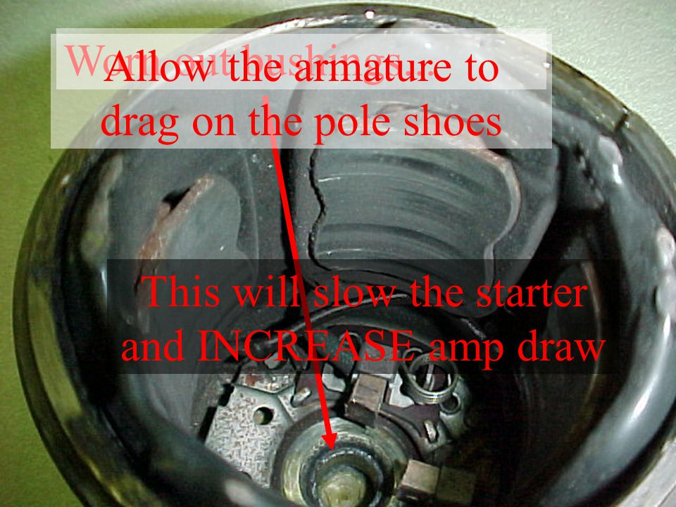Allow the armature to drag on the pole shoes