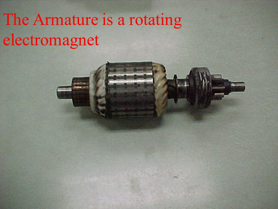 The Armature is a rotating electromagnet