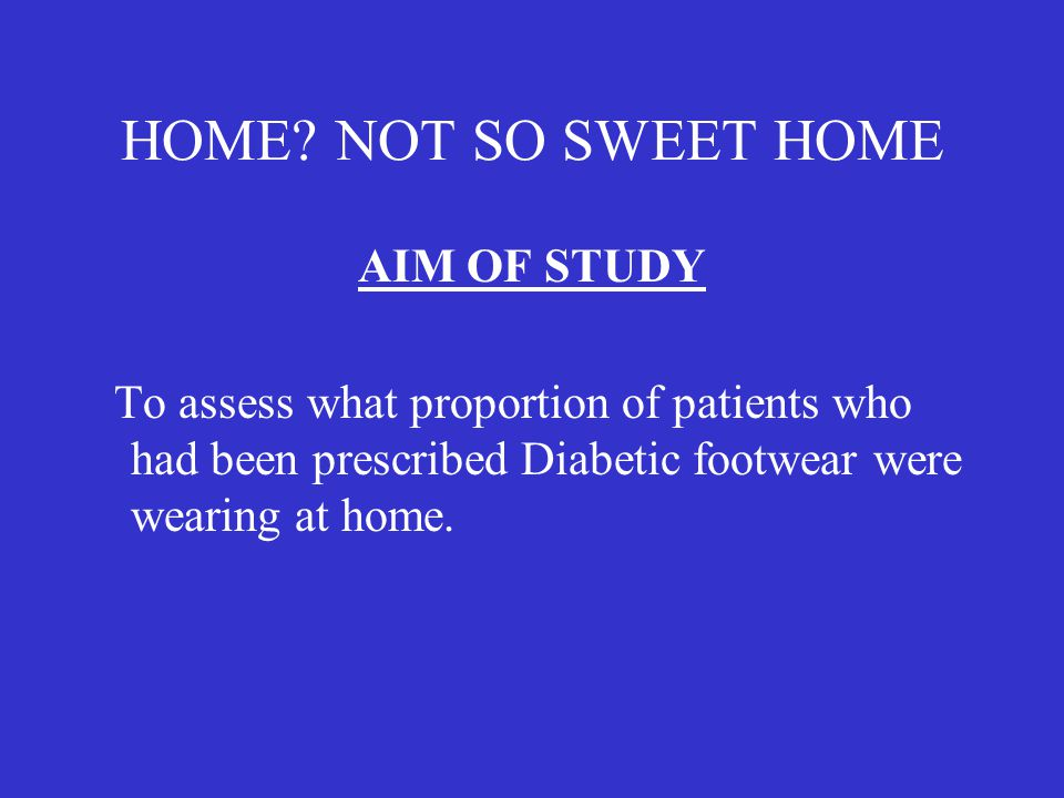 HOME NOT SO SWEET HOME AIM OF STUDY
