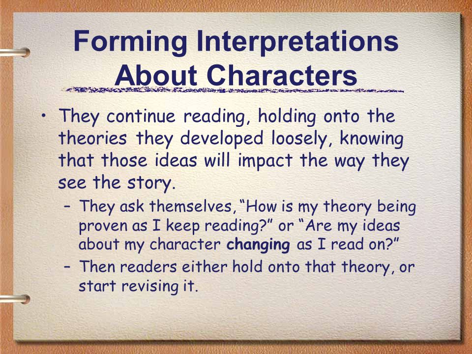 Forming Interpretations About Characters