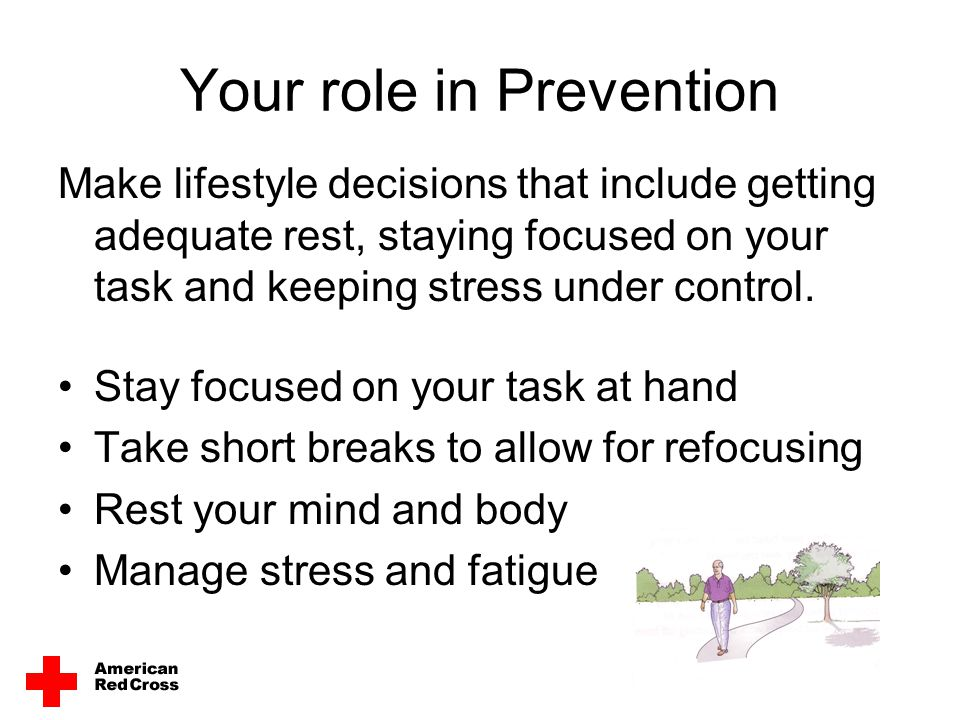 Your role in Prevention