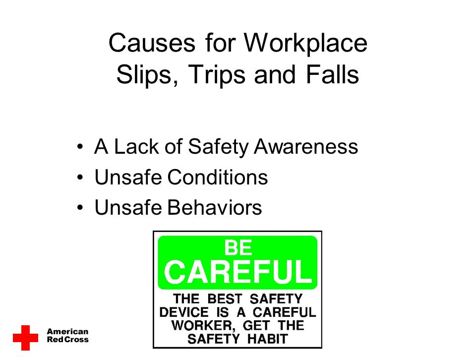 Causes for Workplace Slips, Trips and Falls