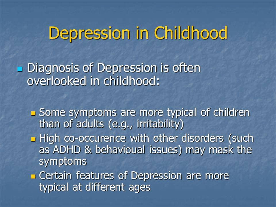 Depression in Childhood
