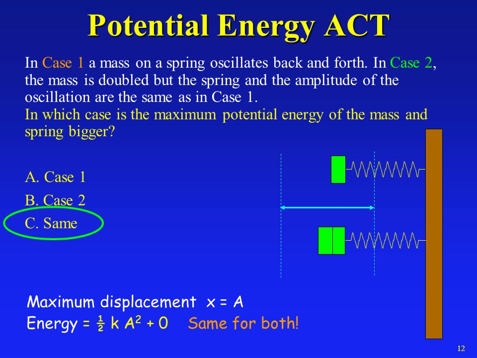 Potential Energy ACT