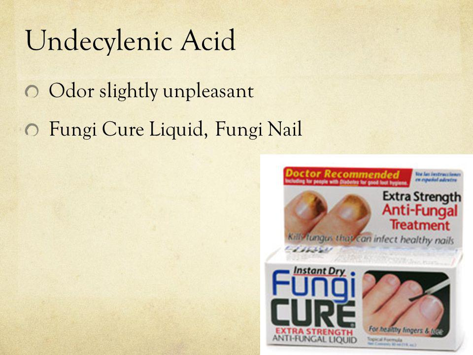 Undecylenic Acid Odor slightly unpleasant