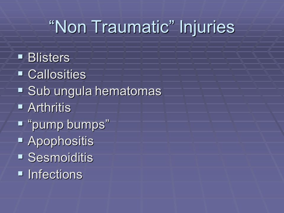 Non Traumatic Injuries