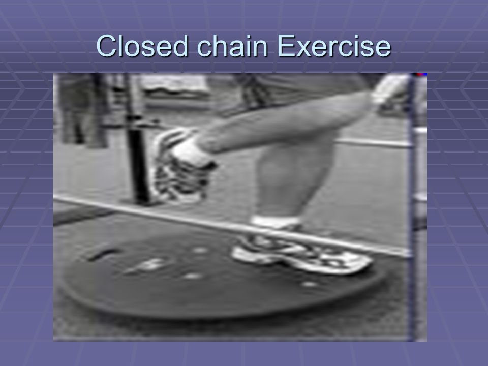 Closed chain Exercise