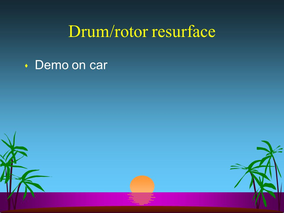 Drum/rotor resurface Demo on car